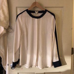 J Crew button up blouse. Size 6